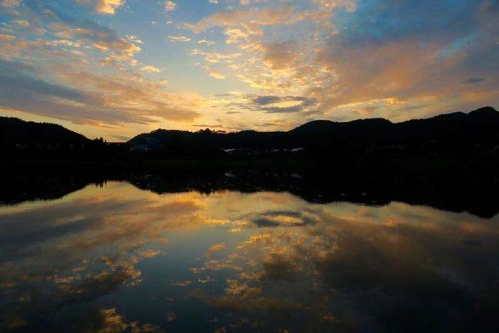 9/16錦秋湖夕暮れ Photo by 瀬川強